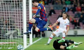 Messi Breaks Ronaldos Spanish Hat Trick Mark Sends Barca