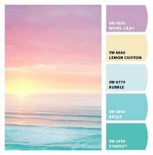 pastel paint colorspastel sunset color palette  the blue and yellow are my colors