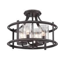 designers fountain palencia 4 light artisan pardo wash interior incandescent semi flush mount