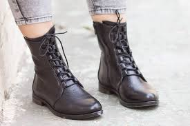 leather boots leather booties leather ankle boots flat image 0