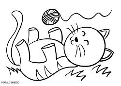 Disegni Di Gatti Da Stampare E Colorare Gratis Portale Bambini