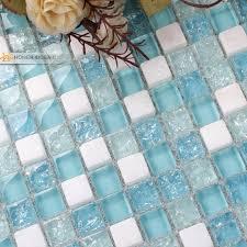 blue mosaic tile backsplash. Contemporary Tile White Stone Mixed Blue Glass Tiles 12x12  Intended Blue Mosaic Tile Backsplash I