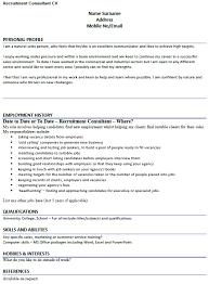 Cv Example For Recruitment Consultant Lettercv Brilliant Ideas Of