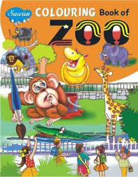 coloring book of zoo book