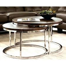 chrome coffee table sets impressive white modern chrome 2 piece cocktail round nesting table set for chrome coffee table sets round