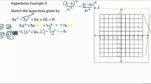 change the equation of a hyperbola to the standard form by complete the square