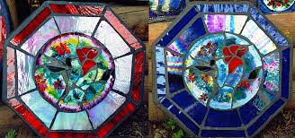 stained glass stepping stones studios gabriola island and nanaimo b c vancouver island canada