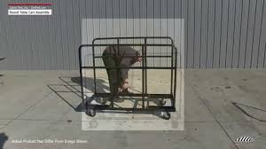 round table cart for storage transport assembly instructions you