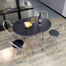 folding dining table and chairs set kitchen 5 piece small rooms space saving