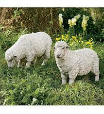 all weather resin sheep garden statues