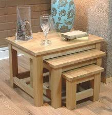 mobel solid oak console. Light Oak Nest Of 3 Tables | Mobel Solid Console