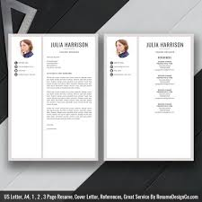 2019 Best Resume Template Word Modern Cv Template Cover Letter References Word Resume Professional And Creative Resume Resume Design Instant