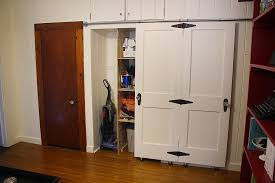 image of sliding closet barn doors with wheels