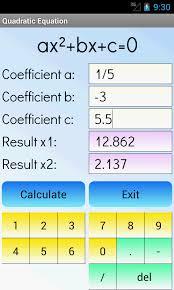 quadratic equations solver free screenshot 1 4