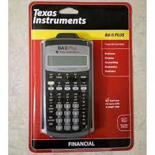 Financial Calculator Texas Instrument Ba Ii Plus Financial Calculator