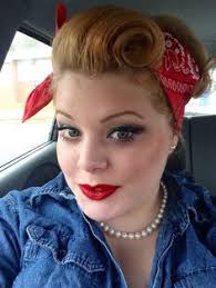 my costume rosie the riveter victory roll pinup hair hair