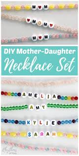 diy mother daughter necklace set