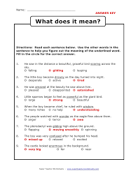 Vocabulary Context Clues Worksheet Worksheets for all | Download ...