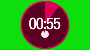 One Miniute Countdown Timer Free Green Screen Footage Video Download