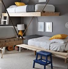 Side Wall Rope Loft Bed Design, Pictures, Remodel, Decor and Ideas