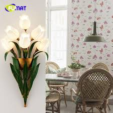 fumat european style art decor flower wall sconces lamp lighting for living room bedside modern brief