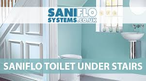 installing a saniflo toilet under stairs