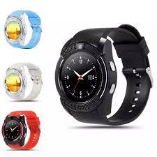 Đồng hồ thông minh V8 cảm ứng mặt tròn sang trọng Smartwatch nghe gọi kết  nối Bluetooth cho nam và nữ