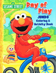 Sesame Street Elmo Jumbo Coloring Book Day Of Play
