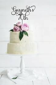 70th Birthday Cake Topper Seventy Personalised Cake Topper