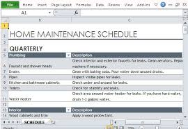 Home Maintenance Schedule Spreadsheet Free Schedule Templates For Excel