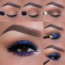 it looks hard but you can do this blue and purple situation makeup eye and mice phan