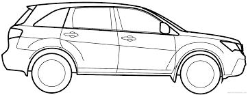 The-Blueprints.com - Blueprints > Cars > Acura > Acura MDX (2010)
