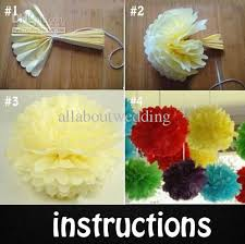 Tissue Paper Flower Ball Decorations