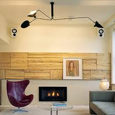industrial contemporary lighting. serge mouille three 3 arms ceiling lamp industrial light contemporary lighting r