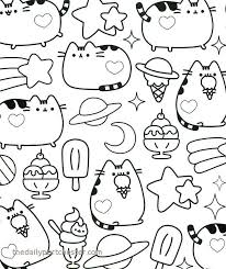 Pusheen Coloring Pages Lovely Kawaii Coloring Pages Inspirational 94