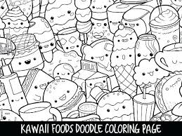 Cute Food Coloring Pages Kawaii Sweet Pinterest Page