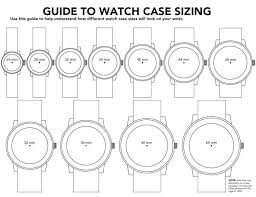 Watch Sizes Chart Mens Watch Box Mens Watches Case Diameter 42mm Size Chart