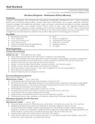 Resume Templates: Maintenance engineer