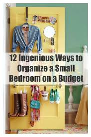 12 ways to organize a small bedroom on a budget how
