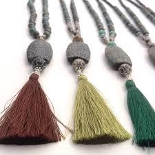 tassel stone necklace