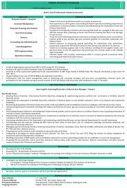 Sample Resume Format Cool CA Resume Samples Chartered Accountant Resume Format Naukri