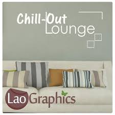 chillout lounge quotes words wall stickers vinyl lettering art decals laographics on wall art lettering words with chillout lounge quotes words wall stickers vinyl lettering art