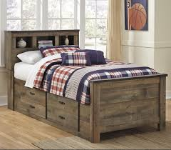 Trevor Rustic Look Twin Bookcase Bed with Under Bed Storage | Ruby ...