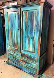 distressed turquoise furniture. Furniture Finishing Technique Bermuda Blending Inside Distressed Turquoise