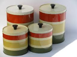 striped kitchen canisters ideas