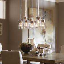 Dining Hall Lighting Reminiscent Of Jelly Jars This Multipendant Light Is A Statement Fixture In Any Farmhouse LightingDining Room Dining Hall Lighting