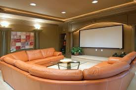 basement theater design ideas. Basement Home Theater Idea With Round Seating Design Ideas D