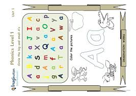 Another use for the flashcards is alphabet order or uppercase and lowercase matching. Phonics Letter A Worksheet English Esl Powerpoints For Distance Learning And Physical Classrooms