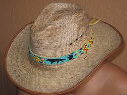 Native American Design Hats Native American Style Inspired Beaded Wolf Hat Band On Deer Hide