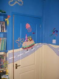 Spongebob Bedroom Decorations Cute Spongebob At Jelly Fish Fields Wallpaper For Kids Bedroom